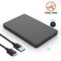 USB 3.0 High Speed 2.5 In SATA Hard Drive HDD Enclosure External Disk Box US