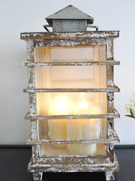Large Rustic Lantern Candle Holder Antique French Vintage Style Shabby Chic 62cm