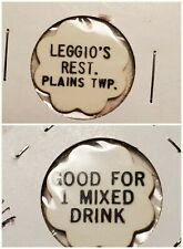 Leggio's Restaurant Plains PA good for 1 mixed drink in trade token gft586