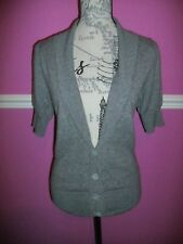AUTOGRAPH MARKS & SPENCER PURE 100% CASHMERE GREY CARDIGAN 12 short sleeves