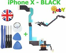 For iPhone X USB Charging Port Dock Connector Flex spare replacement part BLACK