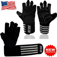 Fitness Gloves Men Weight Lifting Training Glove Heavy Gym Workout Black 1 Pair