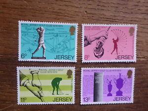 JERSEY 1978 100th ANNIV ROYAL JERSEY GOLF CLUB SET 4 MINT STAMPS