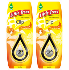2 x Mirror CLIP Little Magic Tree Car Air Freshener VANILLA Freshner