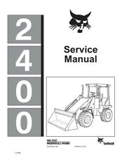 New Bobcat 2400 Skid Steer Loader Updated 1990 Edition Repair Service Manual