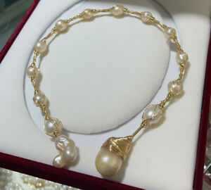 Japan special offer Aurora 20-30mm length Japanese kasumi pearl necklace