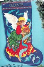 Bucilla Heavenly Angel Harp Christmas Needlepoint Stocking Kit 60728