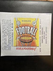 1968 Scanlen's Football VFL Cards Orange Gum Wax Wrapper Print