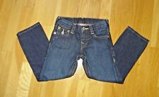 True Religion Boys Jack Jeans Straight Leg Medium Wash 100% Cotton in size 4