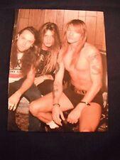 Guns N Roses GnR Coffee Table Book Photo Page Axl Sebastian Bach Larz Ulrich