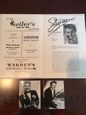 Liberace Autographed Program Both Brothers 1952