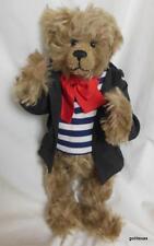 """Vintage Nancy Crowe Mohair Teddy Bear 14"""" 1989 Signed #143"""