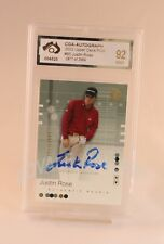 2002 Upper Deck Justin Rose Auto Rookie Card Graded Mint