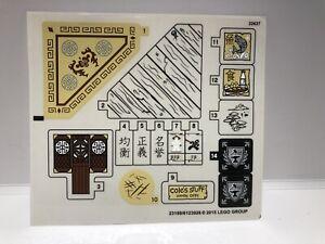 Lego - Ninjago  70751 - Tempel des Airjitzu Sticker / Aufkleber Bogen *New*