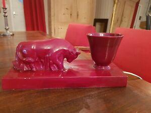 Lampe céramique vintage, années 50 taureau
