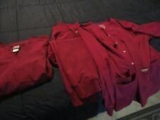 Cherokee women's scrubs 3 pc set Xl Wine colored