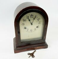 "Vintage 11"" WATERBURY Co USA COMPLETE Arch Top Mechanical Wind Up Mantle Clock"