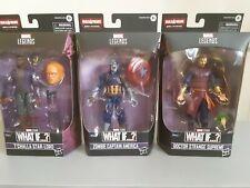 Hasbro Marvel Legends What If lot Captian America,Dr Strange,star-lord