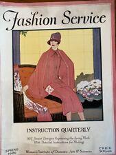 Antique Womans Institute Spring 1926 FASHION SERVICE 167 Designs Make Clothes