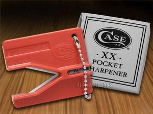 Case xx Knife Red Ceramic Rod Pocket Knives Sharpener 52451