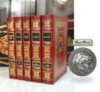 THE CONQUERORS - Easton Press 5 VOL SET  Attila Alexander Great Napoleon Caesar