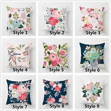 Idyllic flowers Pillowcase Home Throw Pillow Cover Cushion Case Size 16 18 20 24