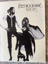 Fleetwood Mac Rumours Songbook Original UK 1978