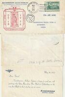 US 1953 SCANDINAVIAN AIRLINES FIRST FLIGHT NEW YORK TO GOTHENBURG FLOWN COVER