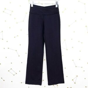 Lululemon Pants Size 4 Solid Black Astro Flared High Rise Full On Luon