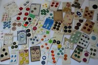 Estate Sale Lot 50 Vintage Buttons On Cards - Different Brands And Styles