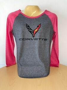 C8 Corvette Ladies Long Sleeve Shirt Buds Chevrolet