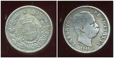 ITALIE  ITALY  1 lire  1886  ARGENT