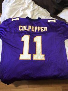 Reebok Authentic NFL Jersey Minnesota Vikings Daunte Culpepper Sz L Authentic