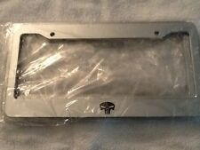 Punisher Skull - Automotive CHROME LICENSE Plate frame - QTY 2 -  skeleton scary