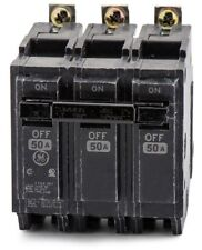 General Electric GE THQB32050 3P 50A 240V BOLT-ON Circuit Breaker Used
