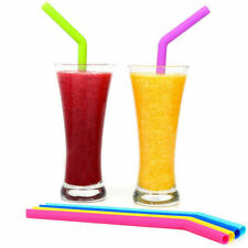 6PCS Silicone Drinking Straws & 2 Cleaners Reusable Party Milkshake Smoothies...