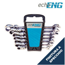 Serie set kit chiavi combinate specchio cricchetto 10 pz  8-22 - FI 10 0015