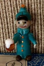 ZBS ZELEZNY BROD SKLO Czech Art Glass Figurine MAN W/BEER MUG Monk Policeman