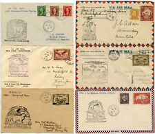 CANADA 6 COVERS FIRST FLIGHTS AIRMAILS 1930-1937