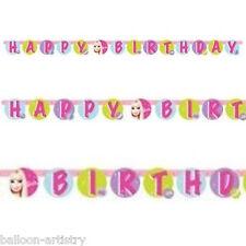 2.5m Moda Rosa Barbie Happy Birthday Festa Ritaglio Decorazione Banner
