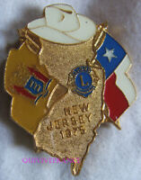 LC162 - BADGE INSIGNE LIONS CLUB NEW JERSEY 1975