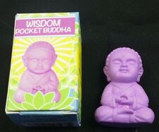 """POCKET BUDDHA FIGURINE """"WISDOM"""" (PURPLE) BUDDHA"""