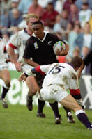 New Zealand All Blacks rugby union great Jonah Lomu,  No 33 OLD LARGE PHOTO