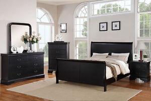 Smooth Surface Curved Panels Est. King Bedroom Set Bed Mirror Dresser Nightstand