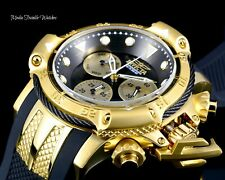 Invicta Subaqua Poseidon Black Dial Quartz Chronograph Gold & Black Bezel Watch