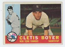 1960 Topps #109 Cletis Boyer Vintage New York Yankees (Free Shipping)