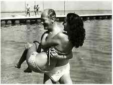 Curd Jürgens con la moglia, Simone Bicheron, a l'Internazionale del Cinema