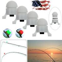 4PCS NEW Fish Bite Alarm Electronic LED Rod Tip Night Fishing Light SUPER Bright
