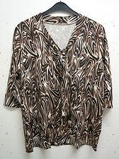 Markenlose Damenblusen, - tops & -shirts mit Rundhals-Ausschnitt und Übergröße