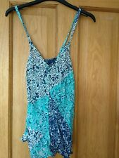 Monsoon green strappy top size S / 10 100% cotton/modal
